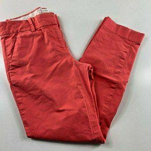 J. Crew Cafe Capri Orange Slender Pants 00 CA40